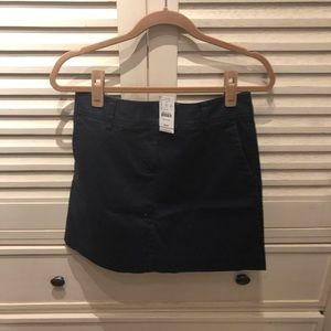 J.Crew factory navy skirt- size 6 NWT